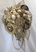 Amber Pearl & Crystal Bouquet